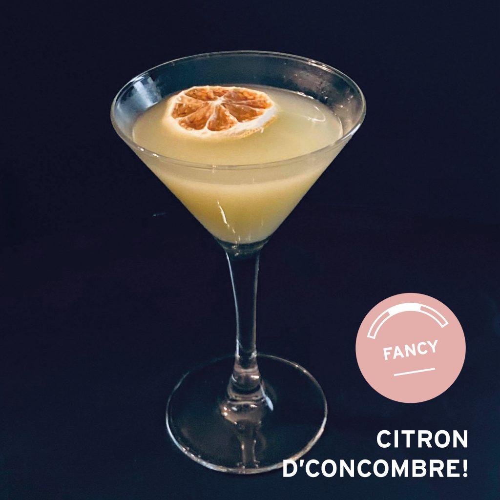 COCKTAIL CITRON D'CONCOMBRE!