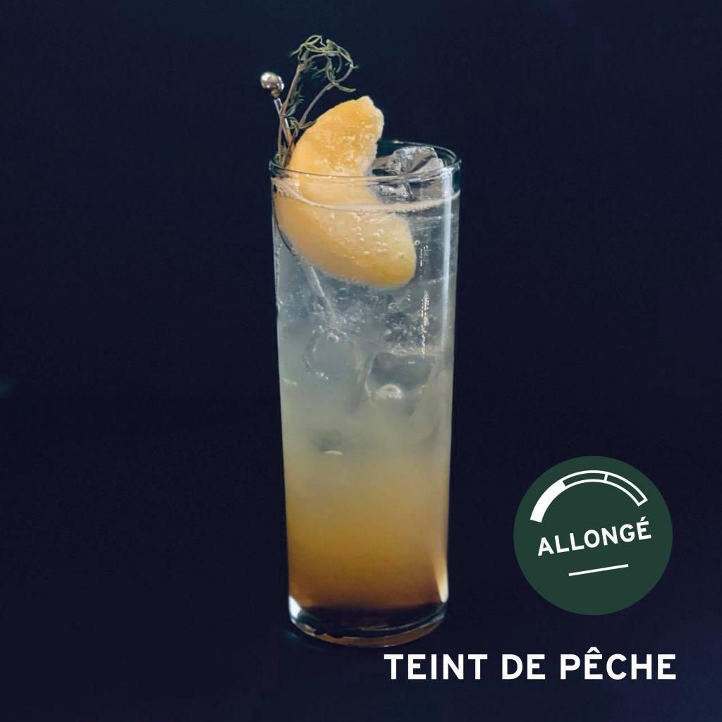 cocktail teint de pêche